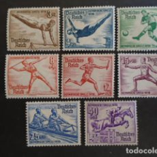Sellos: ALEMANIA IMPERIO TERCER REICH 1936 YVERT 565-572 *MICHEL 609-616 * MH SERIE COMPLETA. Lote 152429298