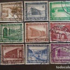 Sellos: ALEMANIA IMPERIO TERCER REICH 1936 YVERT 582-590 MICHEL 634-642 SERIE COMPLETA. Lote 152432418