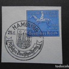 Timbres: ALEMANIA IMPERIO TERCER REICH 1939 YVERT 637 , MICHEL 698 , EN FRAGMENTO. Lote 152877410