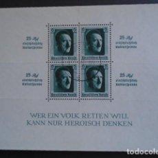 Sellos: ALEMANIA IMPERIO TERCER REICH, 1937 YVERT HB 10 , MICHEL BLOCK 9. Lote 153307026