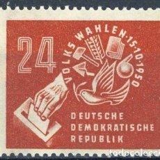 Sellos: ALEMANIA ORIENTAL DDR 1950 IVERT 27 * ELECCIONES DEL 15 DE OCTUBRE. Lote 153848534
