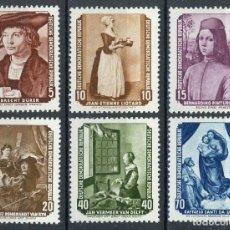 Sellos: ALEMANIA ORIENTAL DDR 1955 IVERT 223/8 * ARTE - OBRAS DEL MUSEO DE DRESDE - PINTURA. Lote 153849822