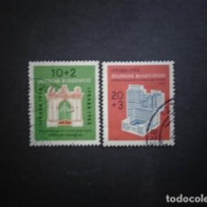 Sellos: ALEMANIA FEDERAL BRD , 1953, YVERT 57-58, MICHEL 171-172. Lote 153930722