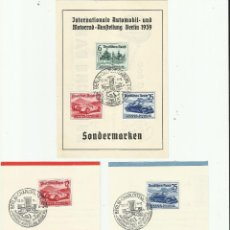 Sellos: DEUTSCHES REICH. ALEMANIA. III REICH. 1939. SALÓN INTERNACIONAL DEL AUTOMÓVIL DE BERLIN.. Lote 154311270