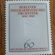 Sellos: ALEMANIA(BERLÍN OCCIDENTAL) :YT. 472 MNH, 100 AÑOS DE LA ORQUESTA FILARMÓNICA DE BERLÍN.. Lote 155144436