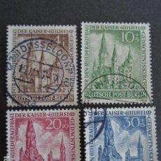 Sellos: BERLÍN , 1953, YVERT Nº 92-95 , IGLESIA DEL EMPERADOR GUILLERMO. Lote 155264970