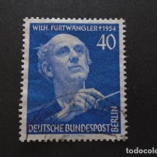 Sellos: BERLÍN , 1955, YVERT Nº 113, MICHEL 128 , FESTIVAL MÚSICA, WILHELM FURTWÄNGLER. Lote 155381142
