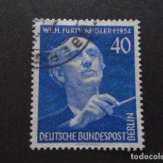 Sellos: BERLÍN , 1955, YVERT Nº 113, MICHEL 128 , FESTIVAL MÚSICA, WILHELM FURTWÄNGLER. Lote 155381182