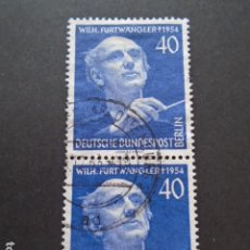 Sellos: BERLÍN , 1955, YVERT Nº 113, MICHEL 128 , FESTIVAL MÚSICA, WILHELM FURTWÄNGLER. Lote 155381334