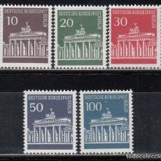 Sellos: BERLIN, 1966 YVERT Nº 257 / 261 /**/ . Lote 155997126