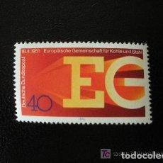 Sellos: ALEMANIA FEDERAL 1976 IVERT 729 *** 25º ANIVERSARIO COMUNIDAD EUROPEA DEL CARBÓN Y EL ACERO. Lote 156528470