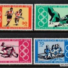 Sellos: ALEMANIA FEDERAL 1976 IVERT 735/8 *** 21º JUEGOS OLIMPICOS DE MONTREAL - DEPORTES. Lote 156529214