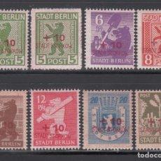 Sellos: ALEMANIA LOCALES, STORKOW 1945 MICHEL Nº 1 / 8 /*/. Lote 156553506