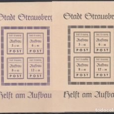 Sellos: ALEMANIA LOCALES, STRAUSBERG. 1946 MICHEL Nº HB 1 / 2 /**/. Lote 156557206