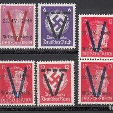 Sellos: ALEMANIA LOCALES, SAULGAU. 1945 LOTE DE SELLOS, . Lote 156557982