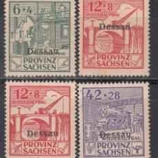 Sellos: ALEMANIA LOCALES, DESSAU. 1946 MICHEL Nº TIPO I, II, III, /*/ . Lote 156558134