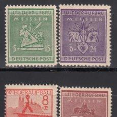 Sellos: ALEMANIA LOCALES, MEISSEN . 1946 MICHEL Nº 35 / 38 /**/. Lote 156558402