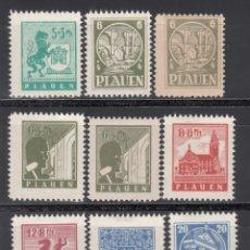 Sellos: ALEMANIA LOCALES, PLAUEN. 1945 MICHEL Nº 1 / 7 /*/ . Lote 156558746