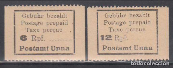 ALEMANIA LOCALES, UNNA. 1945 MICHEL Nº 2, 3, /**/ (Sellos - Extranjero - Europa - Alemania)
