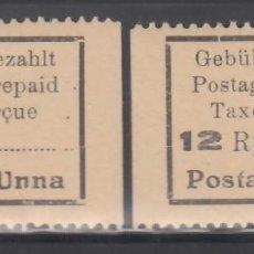 Sellos: ALEMANIA LOCALES, UNNA. 1945 MICHEL Nº 2, 3, /**/ . Lote 156559558