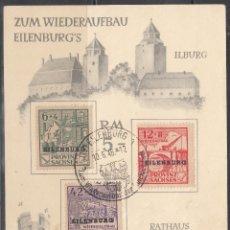Sellos: ALEMANIA LOCALES, EILENBURG. 1945 MICHEL Nº TIPO I, II, II, TARJETA PRESENTACIÓN. . Lote 156559970