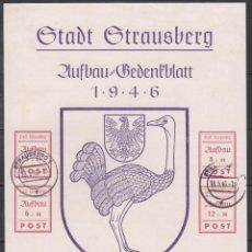 Sellos: ALEMANIA LOCALES, STRAUSBERG. 1945 MICHEL Nº HB 3 . Lote 156560114
