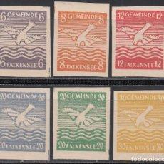 Sellos: ALEMANIA LOCALES, FALKENSEE. 1945 MICHEL Nº 1 / 6 /**/ SIN DENTAR. . Lote 156560574