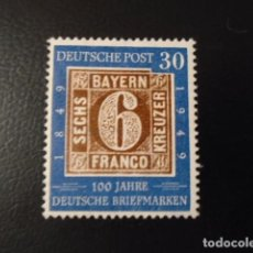 Sellos: ALEMANIA BIZONA 1949, YVERT 78* , MICHEL FEDERAL 115*, CHARNELA, MH. Lote 156905918