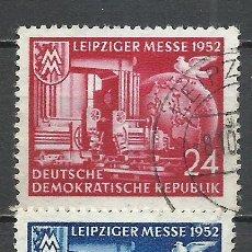 Sellos: ALEMANIA DDR - 1952 - MICHEL 315/316 - USADO. Lote 156958774