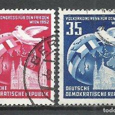 Sellos: ALEMANIA DDR - 1952 - MICHEL 320/321 - USADO. Lote 156959002