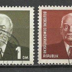 Sellos: ALEMANIA DDR - 1953 - MICHEL 342/343 - USADO. Lote 156959150