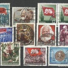 Sellos: ALEMANIA DDR - 1953 - MICHEL 344/353 - USADO. Lote 156959234
