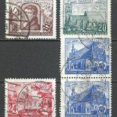 Sellos: ALEMANIA DDR - 1953 - MICHEL 358/361 - USADO. Lote 156959394