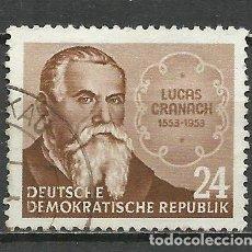 Sellos: ALEMANIA DDR - 1953 - MICHEL 384 - USADO. Lote 156959894