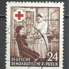 Sellos: ALEMANIA DDR - 1953 - MICHEL 385 - USADO. Lote 156959946