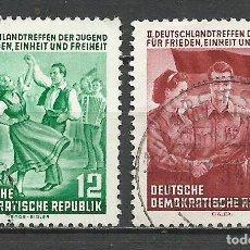 Sellos: ALEMANIA DDR - 1954 - MICHEL 428/429 - USADO. Lote 156960414