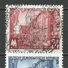 Sellos: ALEMANIA DDR - 1954 - MICHEL 433/434 - USADO. Lote 156960606