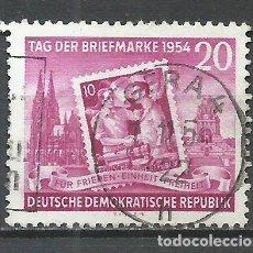 Sellos: ALEMANIA DDR - 1954 - MICHEL 445 - USADO. Lote 156960718