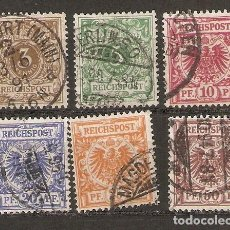 Sellos: ALEMANIA IMPERIO. 1889-1900. YT 45,46,47,48,49,50. Lote 157013314