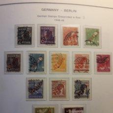 Sellos: BERLÍN. ALEMANIA. YVERT 1/18 (B) SOBRECARGA ROJA. SERIE COMPLETA USADA. DIFICILÍSIMA SERIE EN USADO.. Lote 157143818