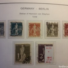 Sellos: BERLÍN. ALEMANIA. YVERT 21/27. SERIE COMPLETA USADA. HEINRICH VON STEPHAN. UPU. VER FOTOS.. Lote 157143904