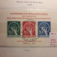 Sellos: BERLÍN. ALEMANIA. YVERT HB-1 SERIE COMPLETA USADA. PRO VÍCTIMAS DE LA REFORMA MONETARIA.. Lote 157273701