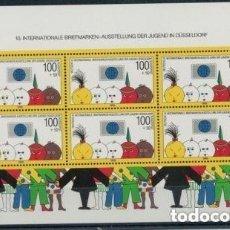 Sellos: ALEMANIA 1990 HB IVERT 20 *** 10º EXPOSICIÓN FILATÉLICA INTERNACIONAL DE LA JUVENTUD EN DUSSELDORF. Lote 158578850