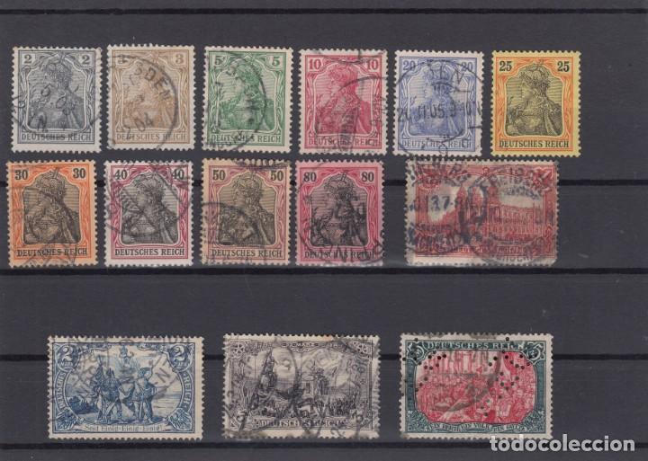IMPERIO DE ALEMANIA. 1902-04. 14 VALORES.USADOS Y UNO NUEVO CON CHARNELA. (Sellos - Extranjero - Europa - Alemania)