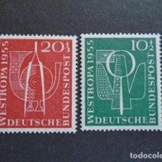 Sellos: ALEMANIA FEDERAL BRD , 1955, YVERT 93-94**, MICHEL 217-218** MNH, SIN CHARNELA. Lote 159922710