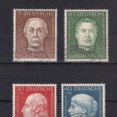 Sellos: ALEMANIA 1954 MICHEL 200/203 USADO 65.00 - 4/22. Lote 160184954