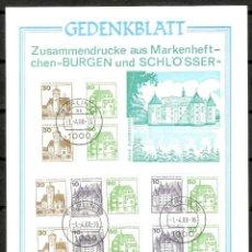 Sellos: ALEMANIA BERLIN.1980. GEDENKBLATT. BURGEN UND SCHLOESSER. Lote 160479326