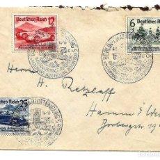 Sellos: ALEMANIA NAZI AÑO 1939 YV 627/29 SPD, SALÓN INTERNACIONAL DEL AUTOMÓVIL DE BERLÍN - SOBRE PRIMER DÍA. Lote 160839914