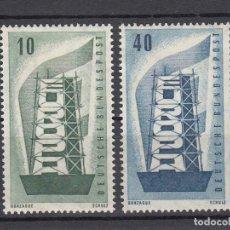 Sellos: ALEMANIA FEDERAL.1956. YVERT 117/118. NUEVOS CON CHARNELAS.. Lote 161007994