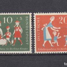 Sellos: ALEMANIA FEDERAL.1957. YVERT 129/130. NUEVOS CON CHARNELAS.. Lote 161012202